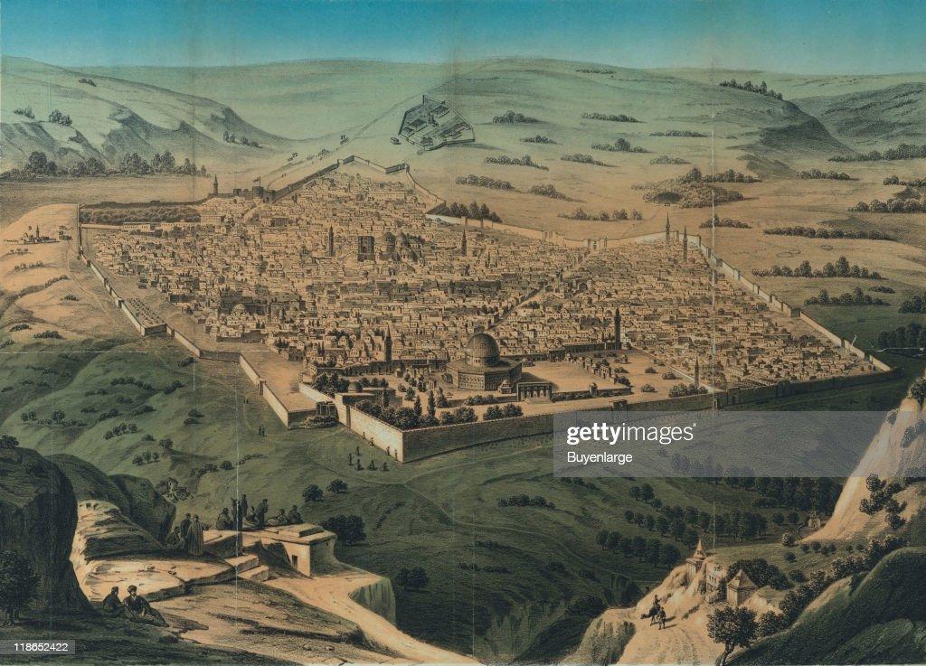 Map of Jerusalem : News Photo