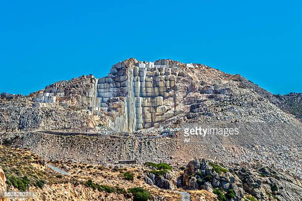 Ancient marble quarries near Melanes in Naxos
