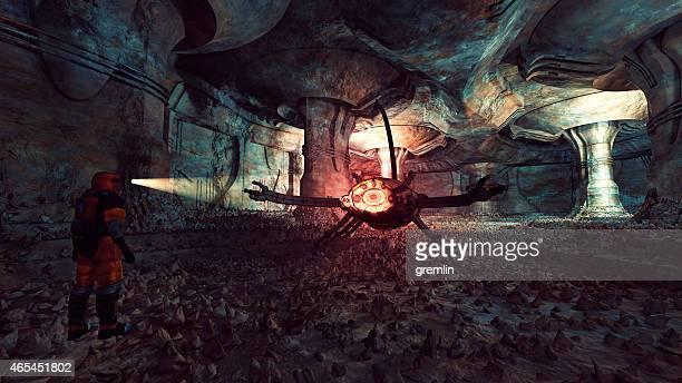 Ancient Martian alien artefacts, scorpion, danger, animal