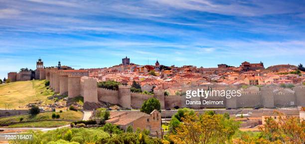 ancient medieval city, avila, castile, spain - avila stock photos and pictures