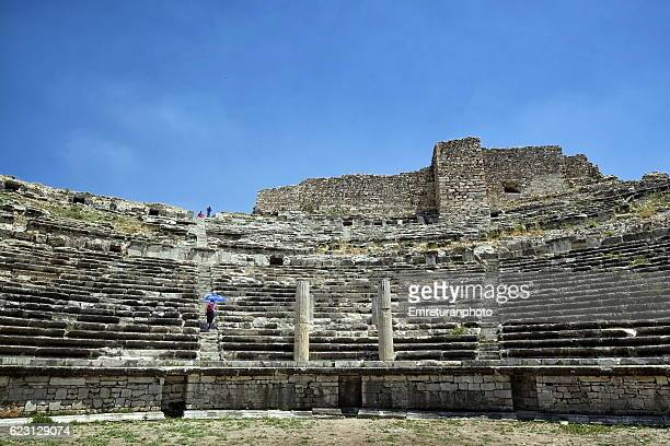 ancient miletus theater - emreturanphoto stock pictures, royalty-free photos & images