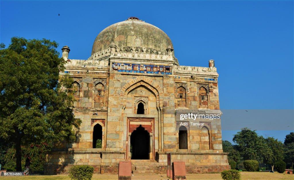 ancient mughal architecture in lodi gardens delhi india stock photo
