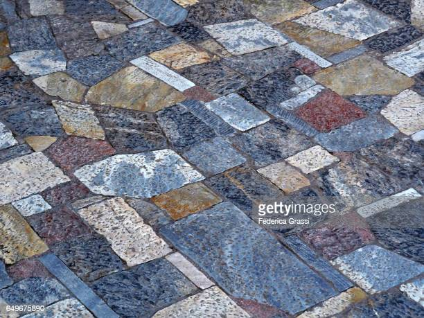 Ancient Multicolor Marble Pavement, Athens, Greece
