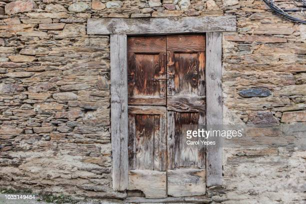 ancient old door - rustic stock pictures, royalty-free photos & images