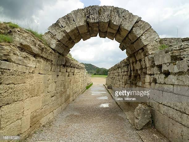Ancient Olympias' stadium.