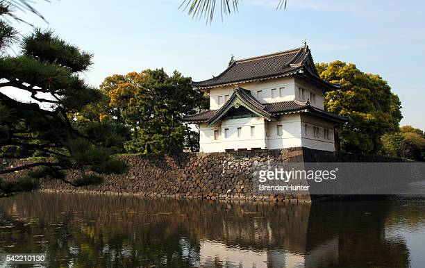 ancient palace - imperial palace tokyo stock pictures, royalty-free photos & images