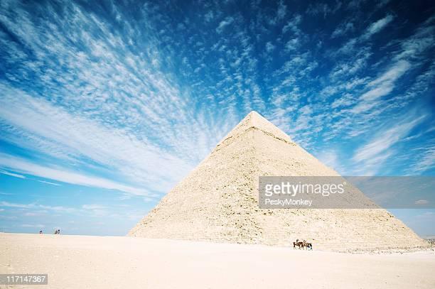 Ancient Pyramid of Egypt Vibrant Giza Desert Skies