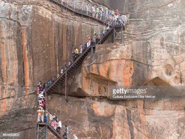 ancient rock fortress, sigiriya, sri lanka - sigiriya stock photos and pictures