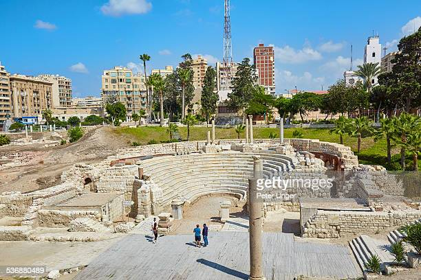Ancient Roman Amphitheater in Alexandria, Egypt