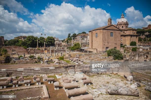 ancient roman forum ruins, rome, italy - image foto e immagini stock