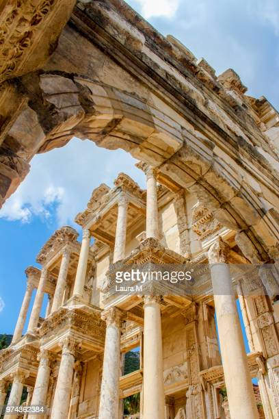 Ancient roman library in Ephesus, Ephesus, Turkey