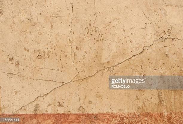 antiken römischen bemalten wand textur hintergrund, rom, italien - geschichtlich stock-fotos und bilder
