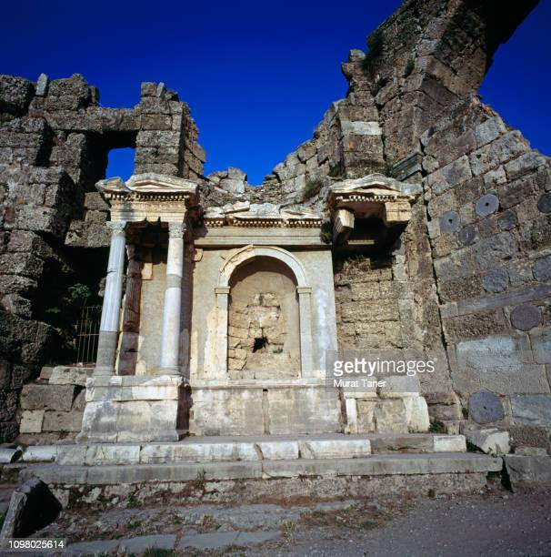 Ancient Roman ruin in Side, Turkey