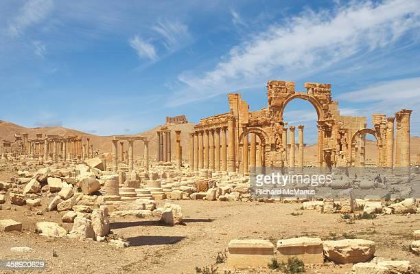 Ancient Roman ruins of Palmyra.