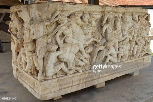 Ancient Roman sarcophagus found in Ashqelon, third century CE
