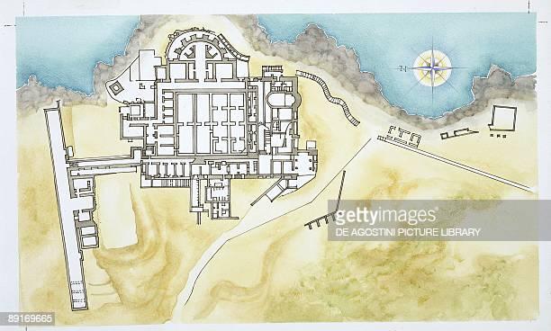 Ancient Rome Capri Villa of Jupiter illustration