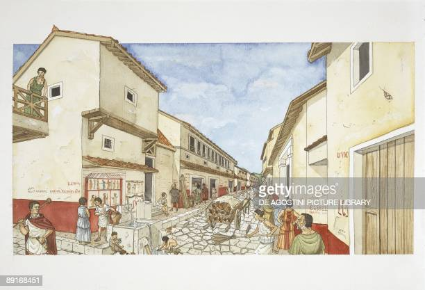 Ancient Rome Pompeii illustration
