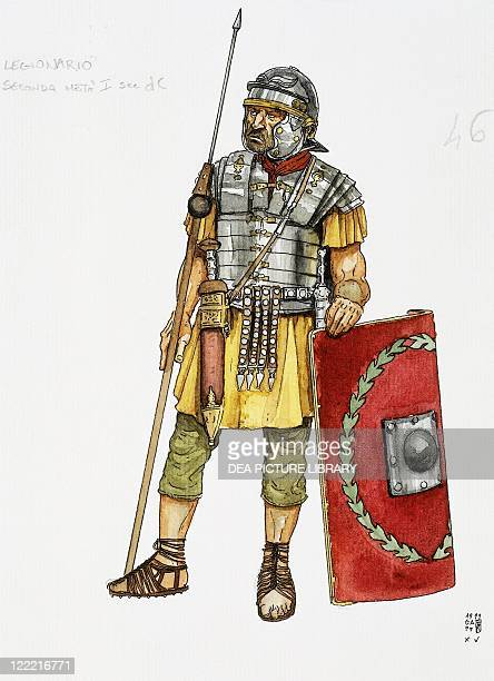 Ancient Rome Roman auxiliary military Infantry Color illustration