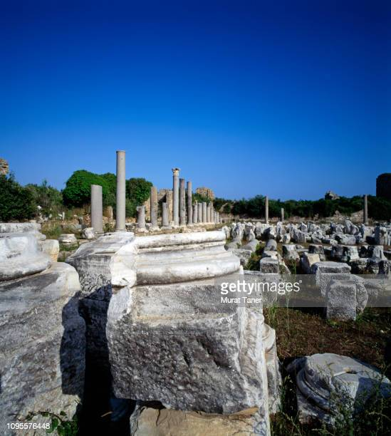 ancient ruins in side - butlins stock pictures, royalty-free photos & images