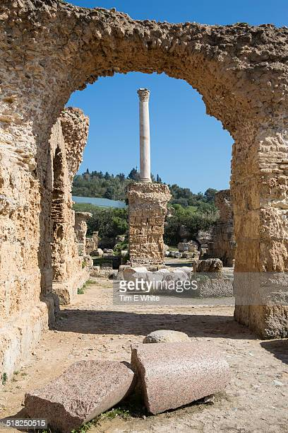 Ancient ruins of Carthage near Tunis, Tunisia
