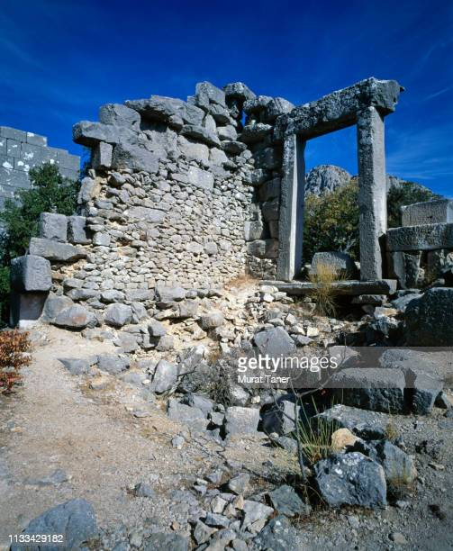 ancient ruins of termessos - ancient greece photos stock pictures, royalty-free photos & images