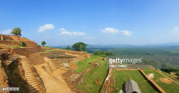 Ancient ruins on the summit of Sigiriya Lion rock, Sri Lanka