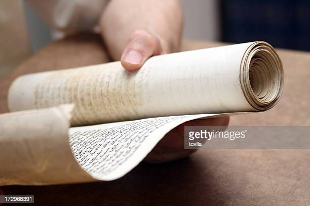 ancient scroll - torah stock pictures, royalty-free photos & images