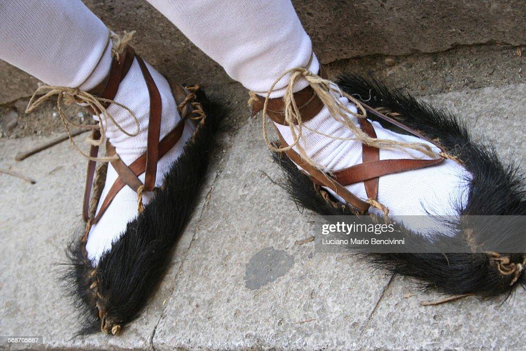Ancient sicilian shoes : Stock Photo