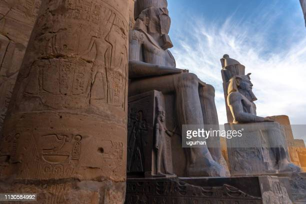 ancient  statue ramses ii of luxor temple in luxor. egypt - ancient history stock pictures, royalty-free photos & images