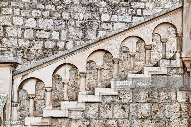 ancient stone stairway - ogphoto stock pictures, royalty-free photos & images