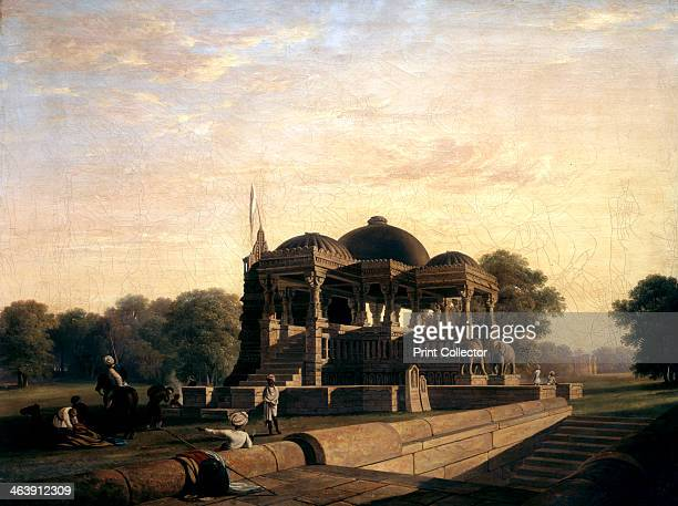 'Ancient Temple at Hulwud' 1826 The temple is dedicated to Shiva in his role of regenerator In the foreground is a stepwell