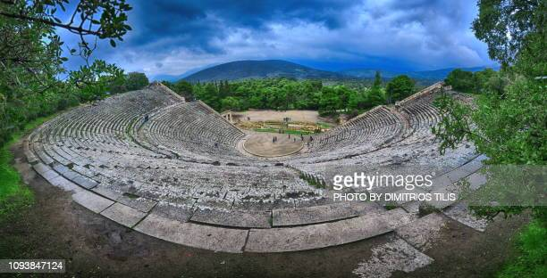 Ancient theater of Epidaurus panorama 3