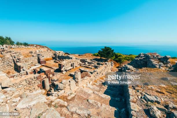 Ancient Thera historic site on Santorini Greece