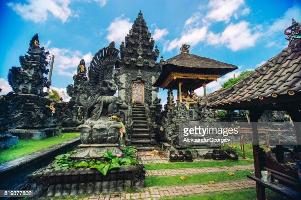 ancient traditional hindu religious temple in bali, indonesia - bali stock pictures, royalty-free photos & images