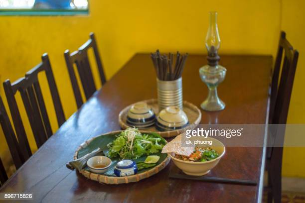 Ancient traditional Vietnamese daily meal