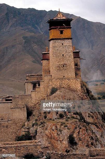Ancient Tsethang Buddhist monastery ransacked by Chinese in 1960, partially restored, said to have been built by mythical King Trisong Detson, in...