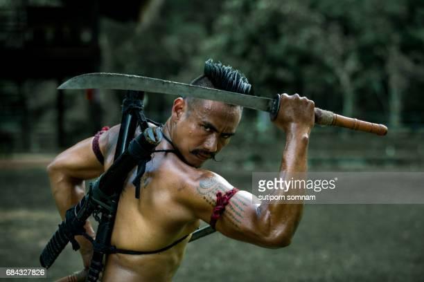 Ancient warrior man of soldier of Bang Rachan