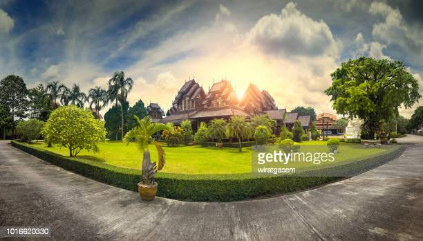 ancient wood temple - myanmar culture stock pictures, royalty-free photos & images