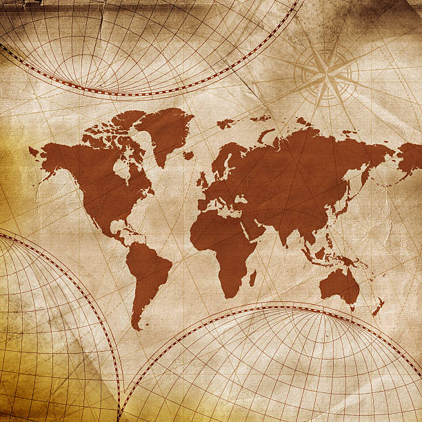 Vintage world map photos ancient world map wall art gumiabroncs Gallery