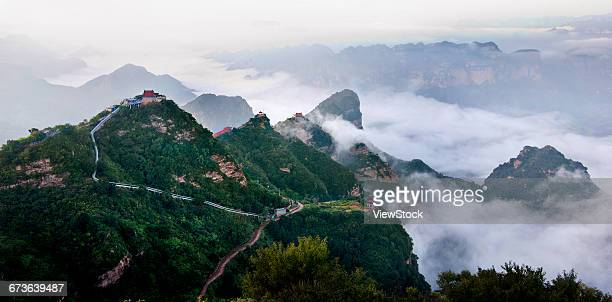 ancient wudang mountains, taihang mountain, handan, hebei province - 太行山脈 ストックフォトと画像