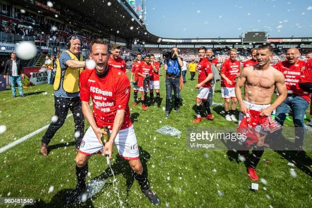 Anco Jansen of FC Emmen during the Dutch Jupiler League playoffs final match between Sparta Rotterdam and FC Emmen at the Sparta stadium Het Kasteel...