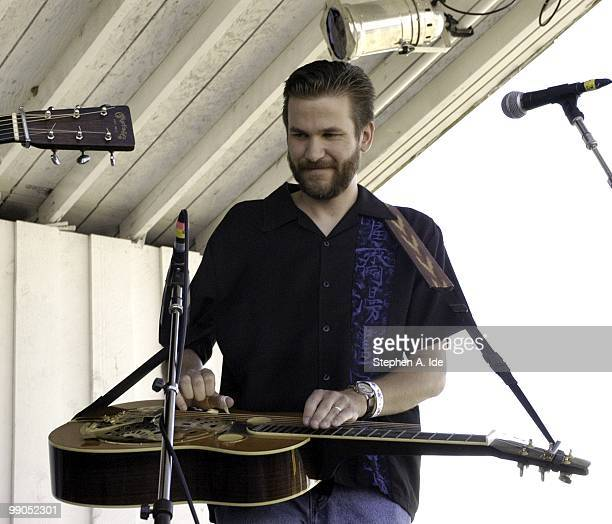 Ancramdale, N.Y - JULY 19 2003: Rob Ickes performs with the band Blue Highway at the Grey Fox Bluegrass Festival on July 19, 2003 in Ancramdale, New...