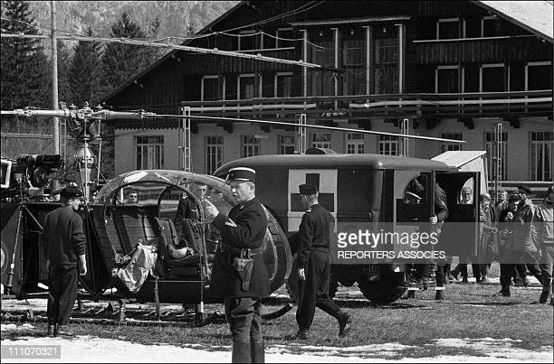 19 and 20 March 1957 a forwarding take down the bodies of mountaineers Jean Vincendon and Francois Henry in Chamonix France