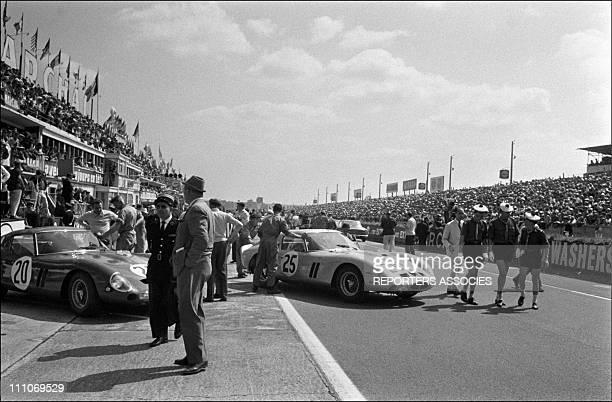 N° 20 and 25 Ferrari GTO '24 heurses du Mans' in Le Mans France on June 17 1963