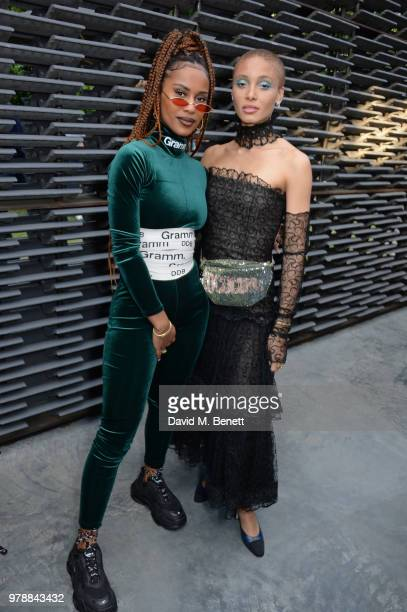 IAMDDB and Adwoa Aboah attend the annual summer party in partnership with Chanel at The Serpentine Pavilion on June 19 2018 in London England