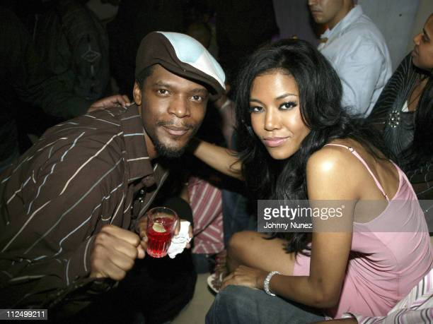 M 1 and Amerie during Amerie Album Release Party for 'Touch' April 26 2005 at Quo in New York New York United States