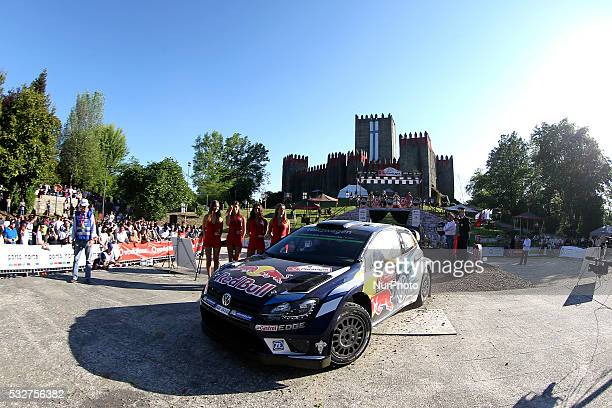 MIKKELSEN and ANDERS JAEGER SYNNEVAAG in Volkswagen Motorsport Volkswagen Polo R WRC II in action during the Start of the WRC Vodafone Rally Portugal...