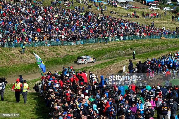 MIKKELSEN and ANDERS JAEGER SYNNEVAAG in VOLKSWAGEN POLO R WRC of team VOLKSWAGEN MOTORSPORT II in action during the SS17 Fafe of the WRC Vodafone...