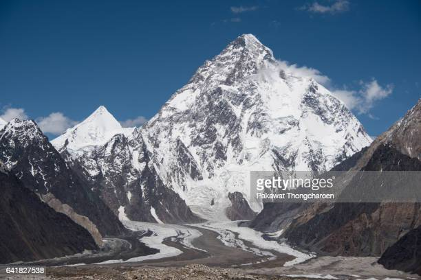 K2 and Angel Peaks from Vigne Glacier, K2 Trek, Karakoram Range, Pakistan