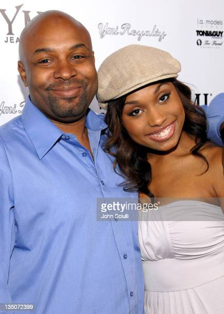 FURQAAN and Angell Conwell during YMI Jeans Fashion Show and Party in Los Angeles California United States